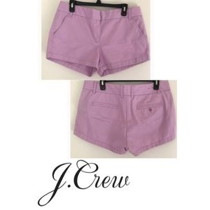 J. Crew Chino Shorts Lavender sz 00 style# 61456